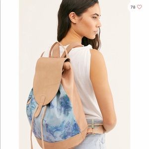 Free people tie dye backpack